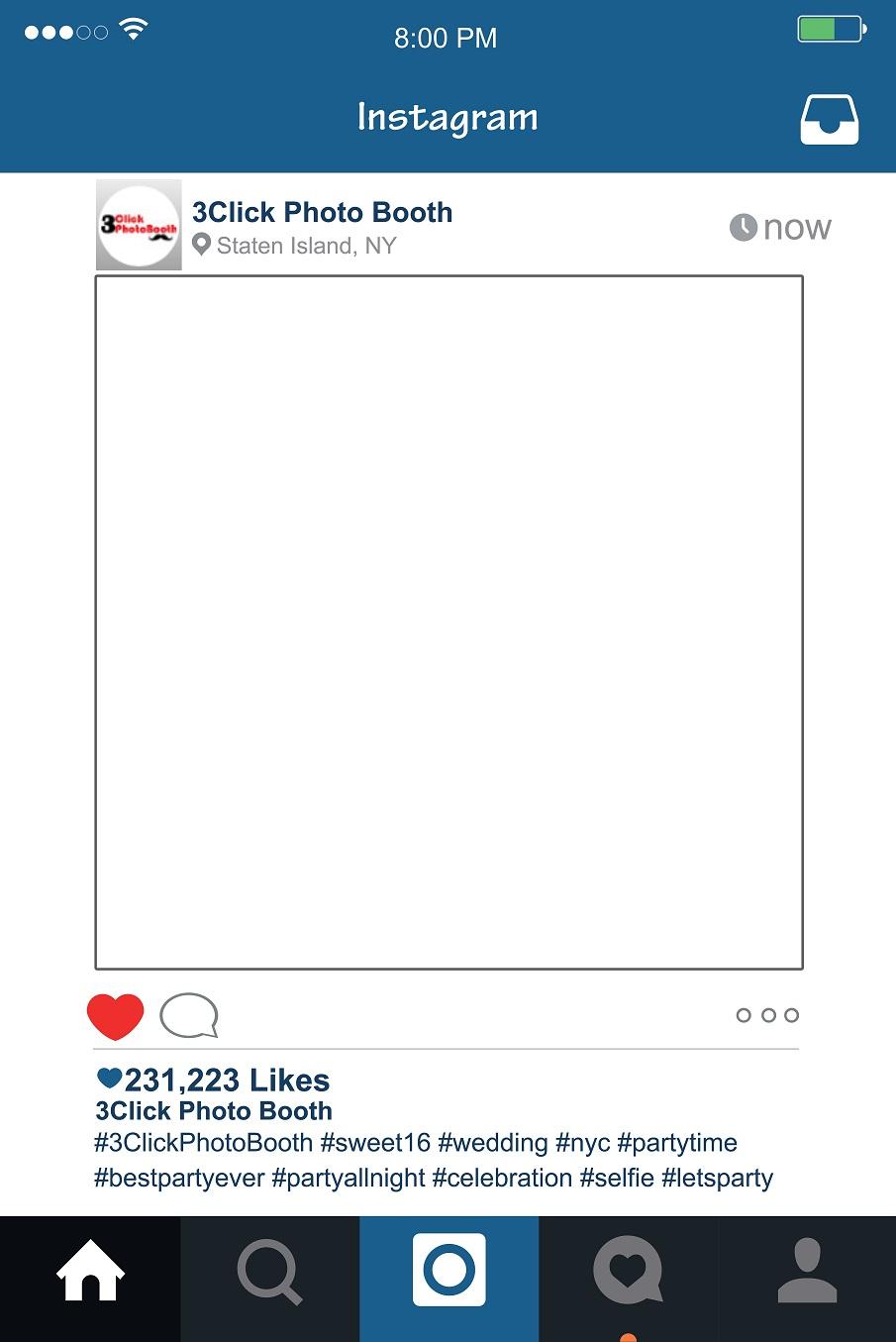 Instagram Photo Booth Instagram Frame Prop